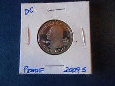 2009 S District of Columbia. Proof DCAM Territorial Quarter: LOW MINTAGE Coin