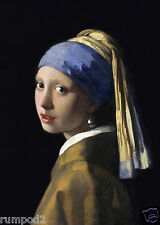 Girl with the pearl earring Vermeer's 'Girl with a Pearl Earring' 5x7 inch print