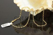 Damenkette Halskette 45cm x 2mm Dubai 750 Gold/18 Karat  vergoldet 1357