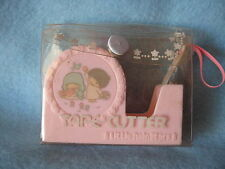 Sanrio LITTLE TWIN STARS TAPE CUTTER IN CASE PINK VINTAGE 1976