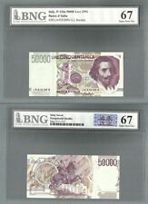 ITALY P-116a 50000 LIRE 1992 BNG 67 GEM UNCIRCULATED