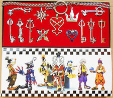 13pcs/ Kingdom Hearts II KEY BLADE Necklace Pendant +chain New in box Set