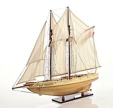 "29"" Long Bluenose II Fully Assembled Handcrated Wooden Boat Model"