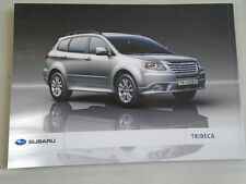 Subaru Tribeca brochure 2010 UAE? market Arabic & English text