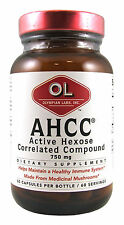 Olympian Labs AHCC (Active Hexose Correlated Compound).750mg.60 Vegi Caps (7010)