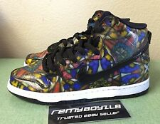 Nike SB Dunk High Premium Concepts Stained Glass Mens Sz 8.5 Holy Grail Supreme