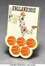 OLYMPIC PINS BADGE 2012 LONDON ENGLAND UK SPORT OF BASKETBALL DUNKING PLAYER-G