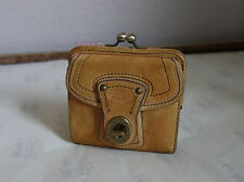 RaRe Coach Legacy Natural Vintage Leather French Wallet $228