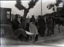 SAINTES MARIES DE LA MER c. 1935 - Camp Gitans Négatif Verre - V9 366