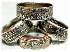 JFK Kennedy Half Dollar Standard Or Bicentennial Coin Ring U Pick,size 8-14