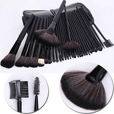 Pro 32PC Kabuki Makeup Brushes Set Cosmetic Foundation Cream Brushes Kit Black