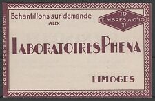 """FRANCE CARNET N° 188-C2 """" PHENA INCOMPLET 4 TIMBRES 1927 """" NEUFS xx SUP J057"""