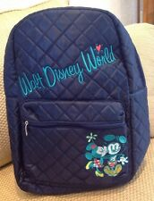 NWT DISNEY WORLD RESORT MICKEY & MINNIE MOUSE QUILTED BACKPACK BLUE GREEN YELLOW