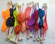 TWISTABLE BENDING SPOTTY HAIR BOWS /JOB LOT WHOLESALE HAIR ACCESSORY  PACK OF 20