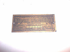 EDISON TRIUMPH MODEL A PHONOGRAPH EARLY ID PLATE