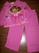 Toddler Girls DORA 2-Pc Pajamas - Size 4T - NEW NWT MSRP $28 - PINK