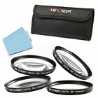 72mm Macro Close Up +1 +2 +4 +10 Lens Filter Kit For Canon Nikon D90 D80 D70 D40