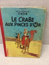 COLLECTION TINTIN HERGE TINTIN LE CRABE AUX PINCES D'OR B23 1957/1958