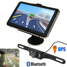 "Wireless 7""Car GPS Rear View Backup Mirror Monitor Bluetooth+Night Vision Camera"