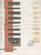 Australia 1989 FDC Vending machine stamp  on 9 different covers fine used stamps
