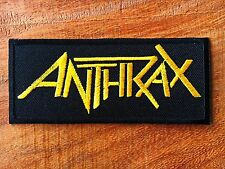 Anthrax Embroidered Sew Iron On Patch American Thrash metal Rock Band Music Logo