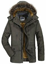 Mens Large Winter Warm Thick Military Hooded Coat/Parka - Waterproof & Windproof