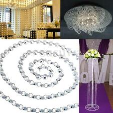 12 Feet Crystal Diamond Prisms Glass Octagon Beads 14mm Wedding Chandelier Parts