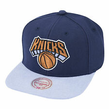 MITCHELL & ness New York Knicks commande Snapback Cap-Bleu marine / bleu clair (Bnwt)