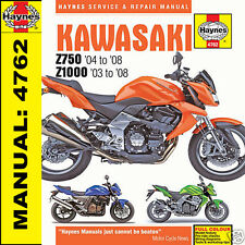 Kawasaki Z750 ZR750 Z1000 ZR1000 2003-2008 Haynes Manual 4762 NEW