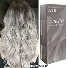 Berina Permanent Hair Color Cream Hair Style Dye Light ash Blonde A38