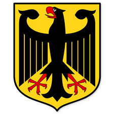 "Germany German Coat of Arms bumper sticker 4"" x 5"""