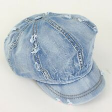 Denim Vintage 8 Panel Applejack Hat / Unisex ASK Jean Newsboy Gatsby Cabbie Cap