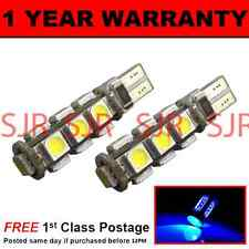 W5W T10 501 CANBUS ERROR FREE BLUE 13 LED INTERIOR COURTESY BULBS X2 IL101801