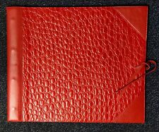 Corban & Blair NEW Leather Large Outback Dapper Photo album RED 25 sheets black