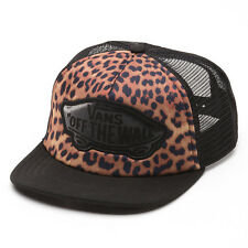VANS BEACH GIRL Womens Trucker Hat (NEW w/ FREE SHIP) Snapback Cap LEOPARD Black