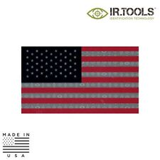 IR Tools CID-FLAG-00013 Infrared IR Flag Patch, Reflective, RWB - USA (Forward)