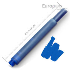 10 x Lamy Compatible Fountain Pen Ink Cartridges T10 Refills - Blue (2 Packs)