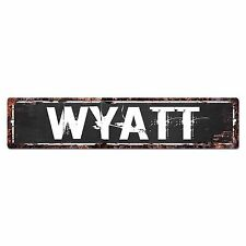 SLND0604 WYATT Street Chic Sign Home man cave Decor Gift Ideas