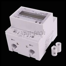 230V 100A kWh LCD DIN-rail Type Single Phase Electrical Energy Power Meter