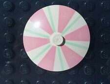 Lego Rare Vintage Paradisa Restaurant Table Umbrella Pink Light Green and White