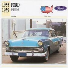 1955-1959 FORD FAIRLANE Classic Car Photograph / Information Maxi Card