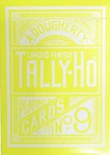 Tally Ho Yellow Deck Reverse Circle Back Limited Edition Playing Cards