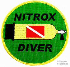 NITROX DIVER EMBROIDERED SCUBA TANK PATCH DIVING EMBLEM iron-on ENRICHED AIR