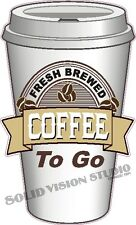 """14"""" Coffee Fresh To Go Concession Food Truck Shop Cafe Restaurant Sign Decal"""