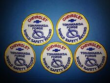 5 Lot RARE Vintage 1970's Chevrolet  Tonawanda Forge Employee Jacket Hat Patches