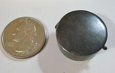 Vintage Mexican Sterling Silver small Round unetched Poison Pill Snuff Box IC-02