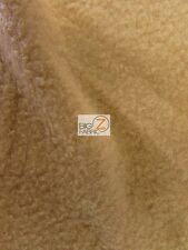 "SOLID POLAR FLEECE FABRIC (ANTI-PILL) - Camel - 60"" WIDTH SOLD BY THE YARD"