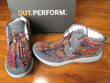 NEW MERRELL Pechora Mid Lace Up Boots WOMENS sz 8 GREY Multi J42846 $120.