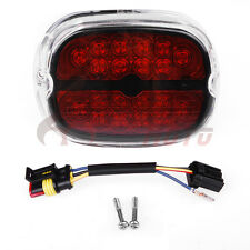 Clear Black Integrated LED Taillight License Plated Lamp For Harley Fatboy XL FM