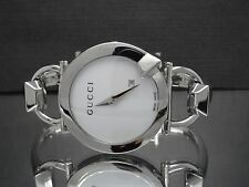 Gucci YA122501 Chiodo 122.5 Women's Date White Dial Stainless Steel Watch